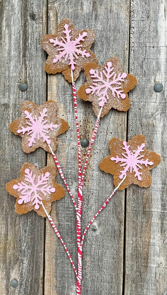 Christmas Snowflake Decor, Snowflake Cookie Sprays, Snowflake Decor, Christmas Picks, Christmas Tree Sprays