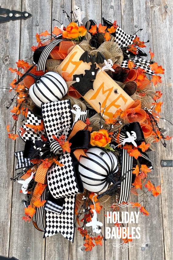 Halloween Wreath, Haunted House Wreath, Spooky Halloween Wreath, Ghost Wreath, Halloween Home Wreath, Halloween Decor