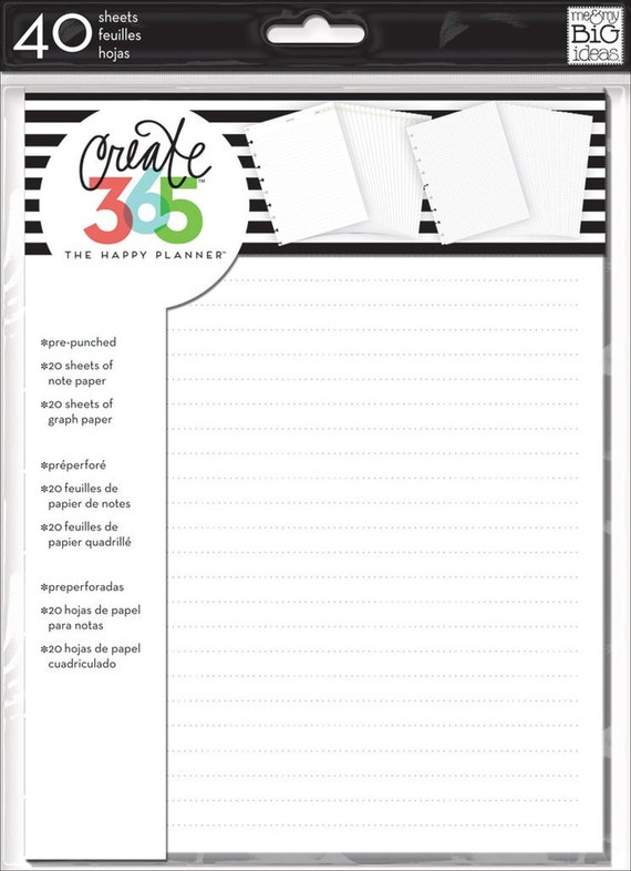 the happy planner create 365 me and my big ideas note etsy