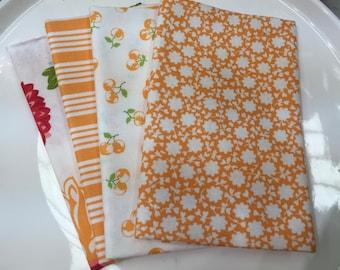 Moda Fabric - Fat Eighth Bundle - The Good Life by Bonnie & Camille - Orange - Set of 4