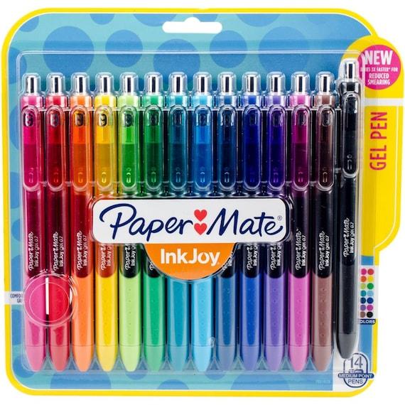 paper mate inkjoy gel pens 0 7mm set of 14 planner pens etsy
