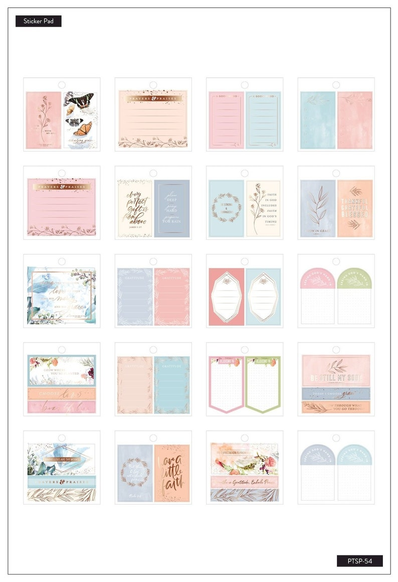 Tiny Stickers Pad The Happy Planner Faith Me and My Big Ideas