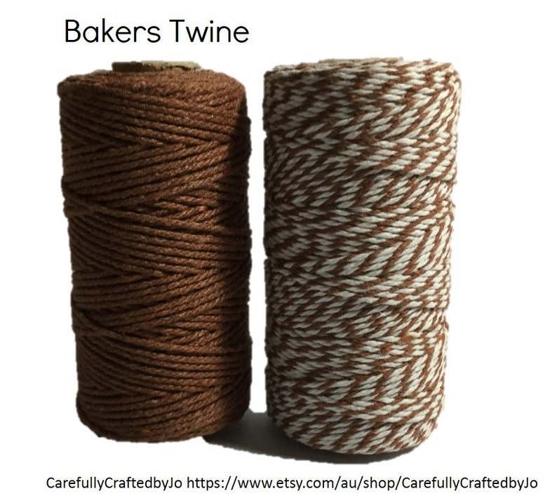 Cotton String Baker/'s Twine 100 Metre Spool Dark GreenLight Green and White Solid Green- 12 Ply 1.5mm
