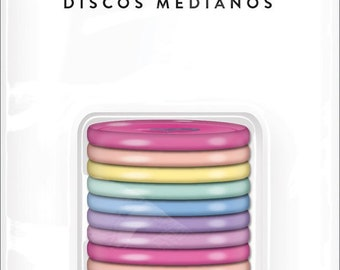 The Happy Planner - Me and My Big Ideas - Classic (Medium) Discs - Gold, Black, Teal, Rose Gold, Pink, Rainbow, Pastel Rainbow
