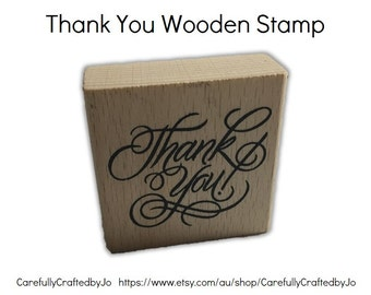 Thank You Stamp - Wooden Rubber Thank You Stamp