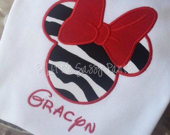 Disney Minnie Mouse Shirt, Minnie Ears Shirt, Minnie Mouse Shirts, Girls Minnie Shirt, Personalized Disney Shirt