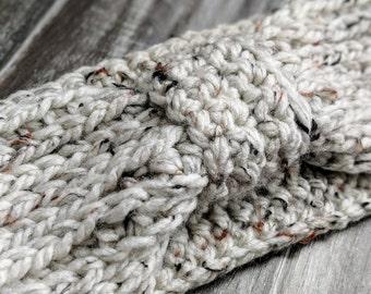 Knit-Look Knotted Ear Warmer / Headband