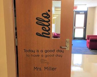 Classroom Door Decal Etsy
