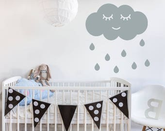 Raindrop Nursery Decor - Custom - Nursery Decor - Raindrop Wall Decal  Wall Stickers