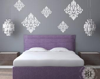 Bedroom Wall Decal, Bedroom Decor, Ornate Wall Decal, Damask Vinyl Decal, Bedroom  Wall Decals, Wall Stickers, Vinyl Decals, Wall Decal