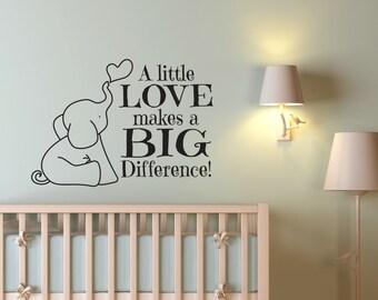 Nursery Decor - Elephant Nursery Decor - Elephant Wall Decal - Nursery Wall Decal - Nursery Wall Decor - Baby Boy Decor - Baby Girl Decor