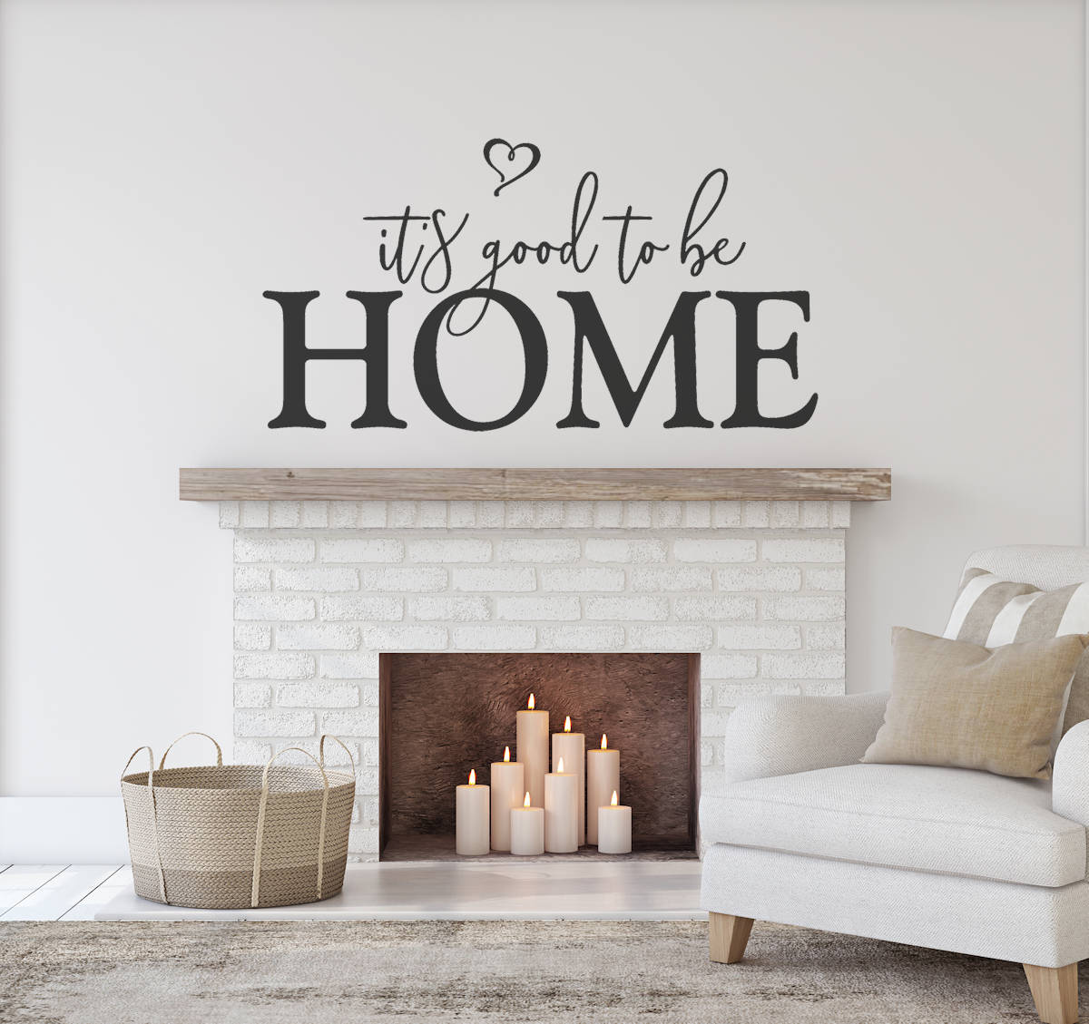 Home Wall Decal Custom Wall Decal Its Good To Be Etsy