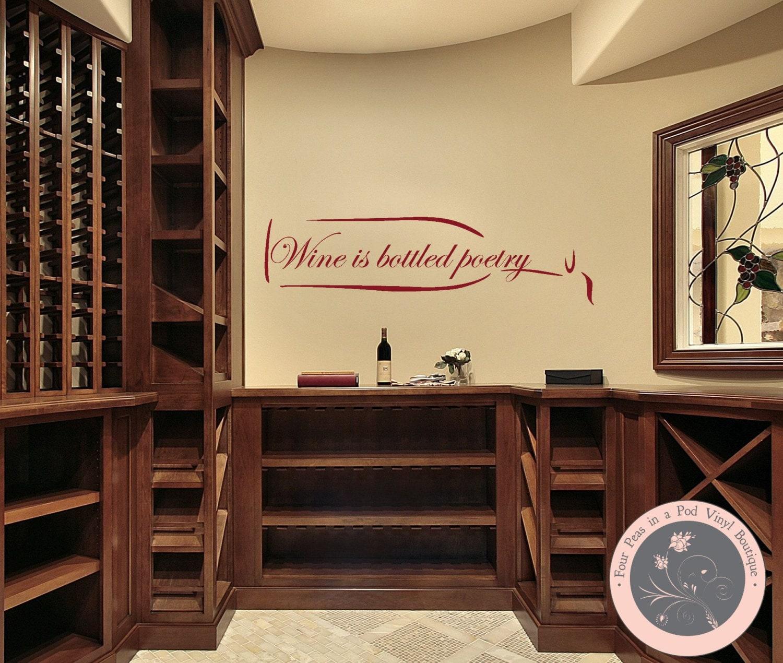 Kitchen Wine Wall Art: Kitchen Decor Wine Wall Decal Kitchen Wall Decal Wine Wall