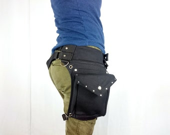 b84deeece77 Utility belt with REMOVABLE leg strap on the thigh