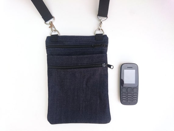 86710c9f2 Bolsa para el telefono movil y otras cositas, hecha de tela vaquera fuerte,  porta movil