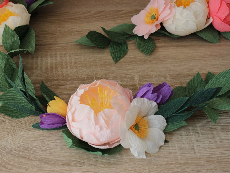 Floral Garland Wedding Paper Flowers Garland Backdrop Nursery Garland