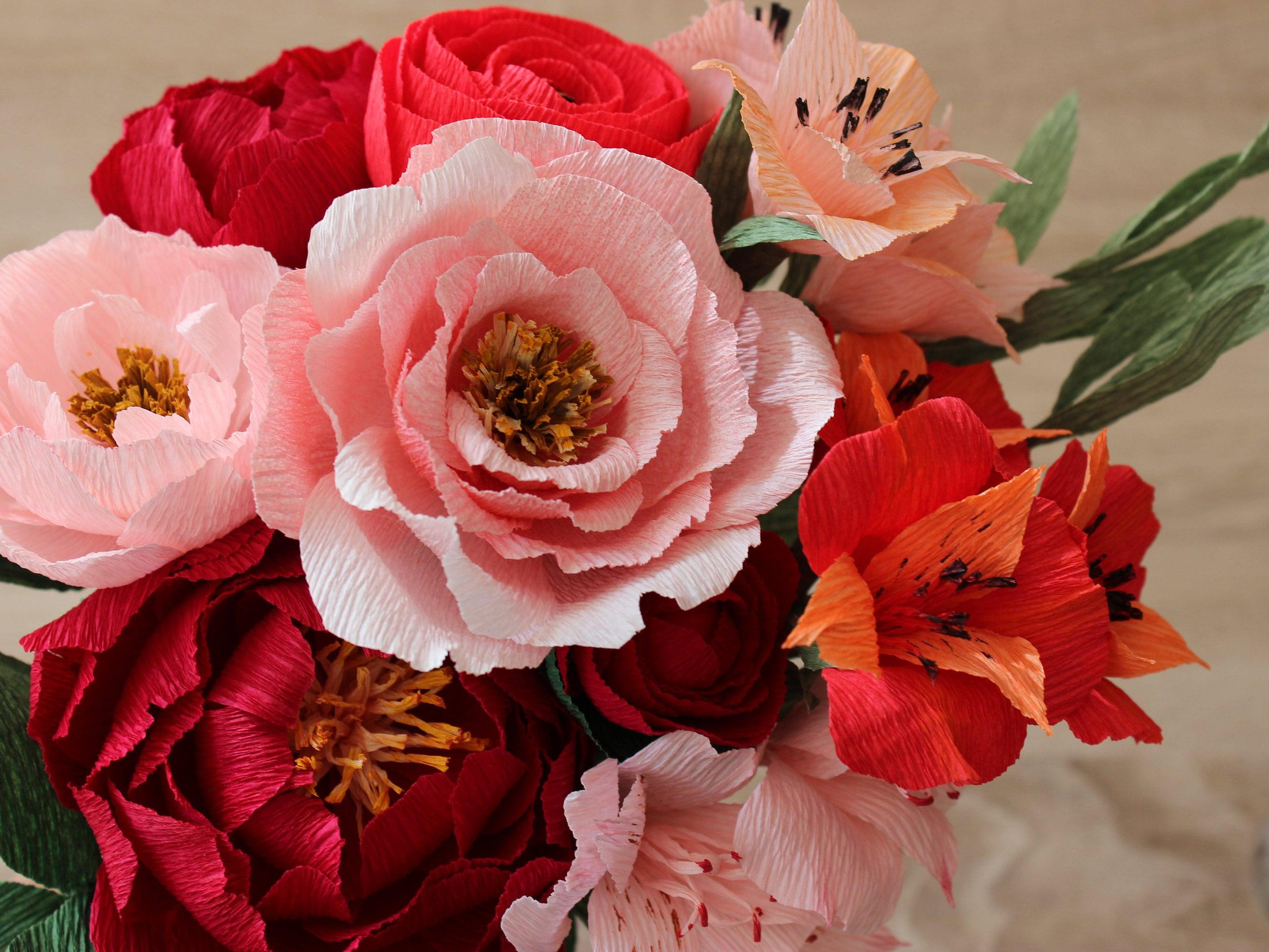 Fall Floral Arrangement Wedding Centerpiece Fall Paper   Etsy
