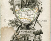 1823 Perrot Map of Vosges...