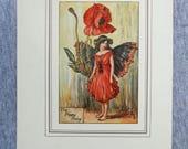 Poppy Flower Fairy Vintag...