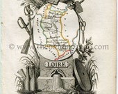 1823 Perrot Map of LOIRE,...