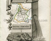 1823 Perrot Map of Hautes...