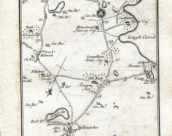 1778 Taylor Skinner Antique Ireland Road Map 235 236 Etsy
