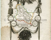 1823 Perrot Map of Yonne,...