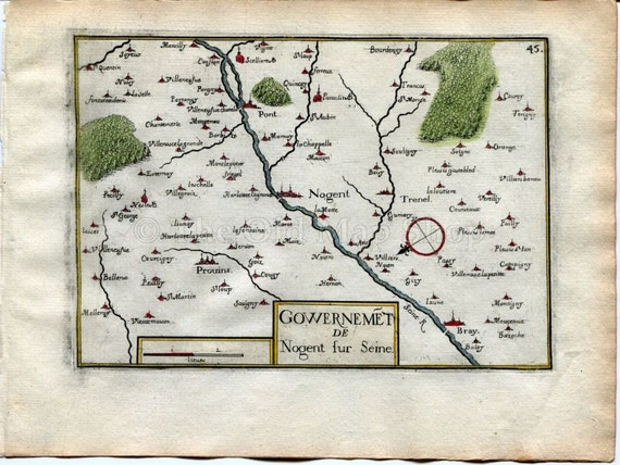 Fort Champagne Ardenne 1634 Nicolas Tassin Charleville Mezieres Fortifications Map France Antique Ardennes