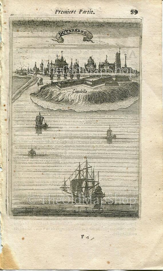 Bird/'s-eye Perspective View Spain Madrid 1672 Manesson Mallet Les Travaux De Mars Engraving Map Antique Print