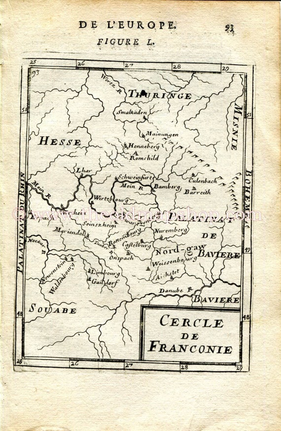 1683 Manesson Mallet Cercle De Franconie Germany Etsy