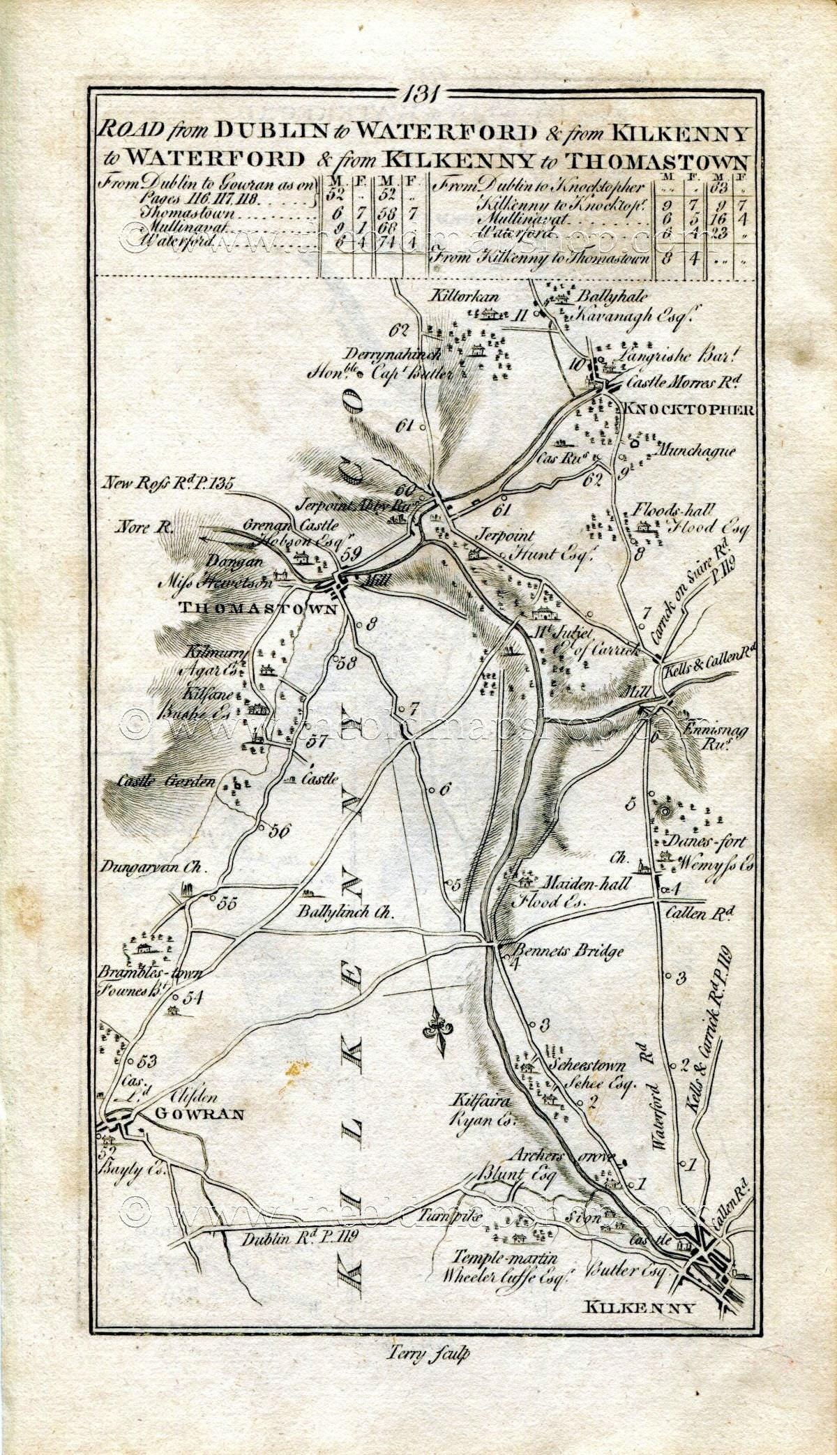 1778 Taylor & Skinner Antique Ireland Road Map 131/132 ...