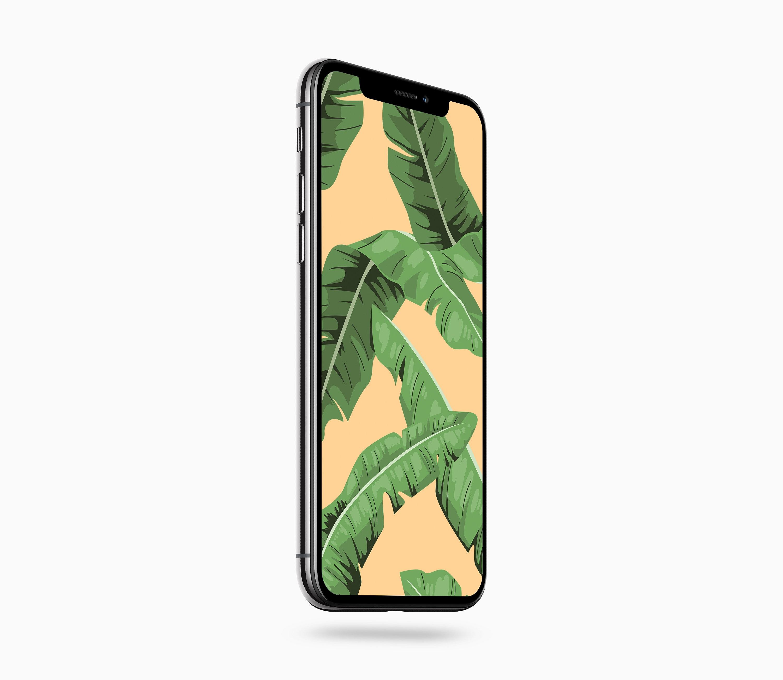 Banana Leaf Tropical iPhone Wallpaper   iPhone Wallpaper   iPhone  Background   Instant download   Digital download