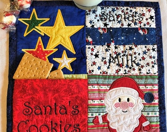 Quilted Santa Cookies and Milk Mat ON SALE