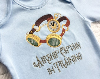 c1b2e430a Airship Captain in Training Steampunk gothic baby onesie vest