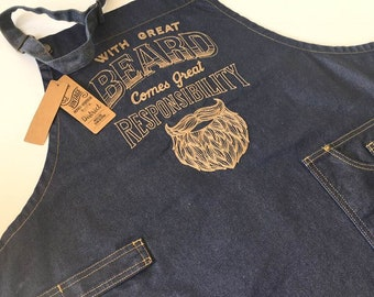 With great beard Father's Day Apron  perfect father's Day gift