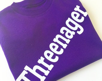 Threenager  T shirt by Jellibabies
