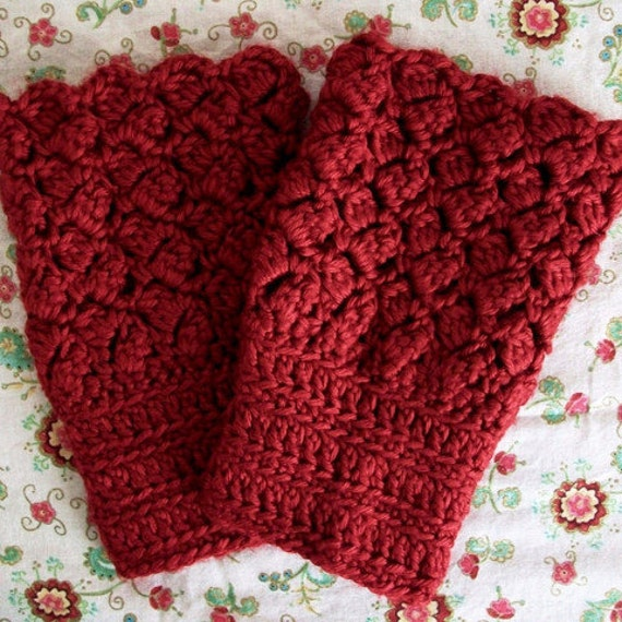 Easy Crochet Lace Boot Cuffs Toppers Pattern Boho Vintage Etsy