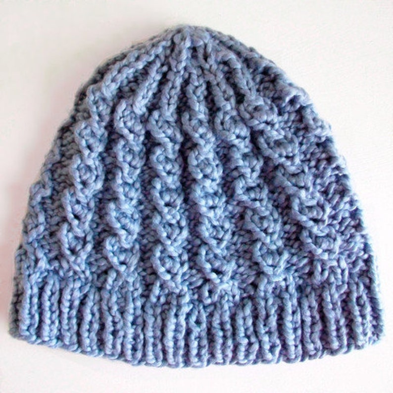 Cable Knit Hat PATTERN Rustic Twist Mock Cable Boho Rustic Style 200651ff0aa
