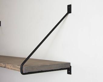 Black shelf bracket | Etsy
