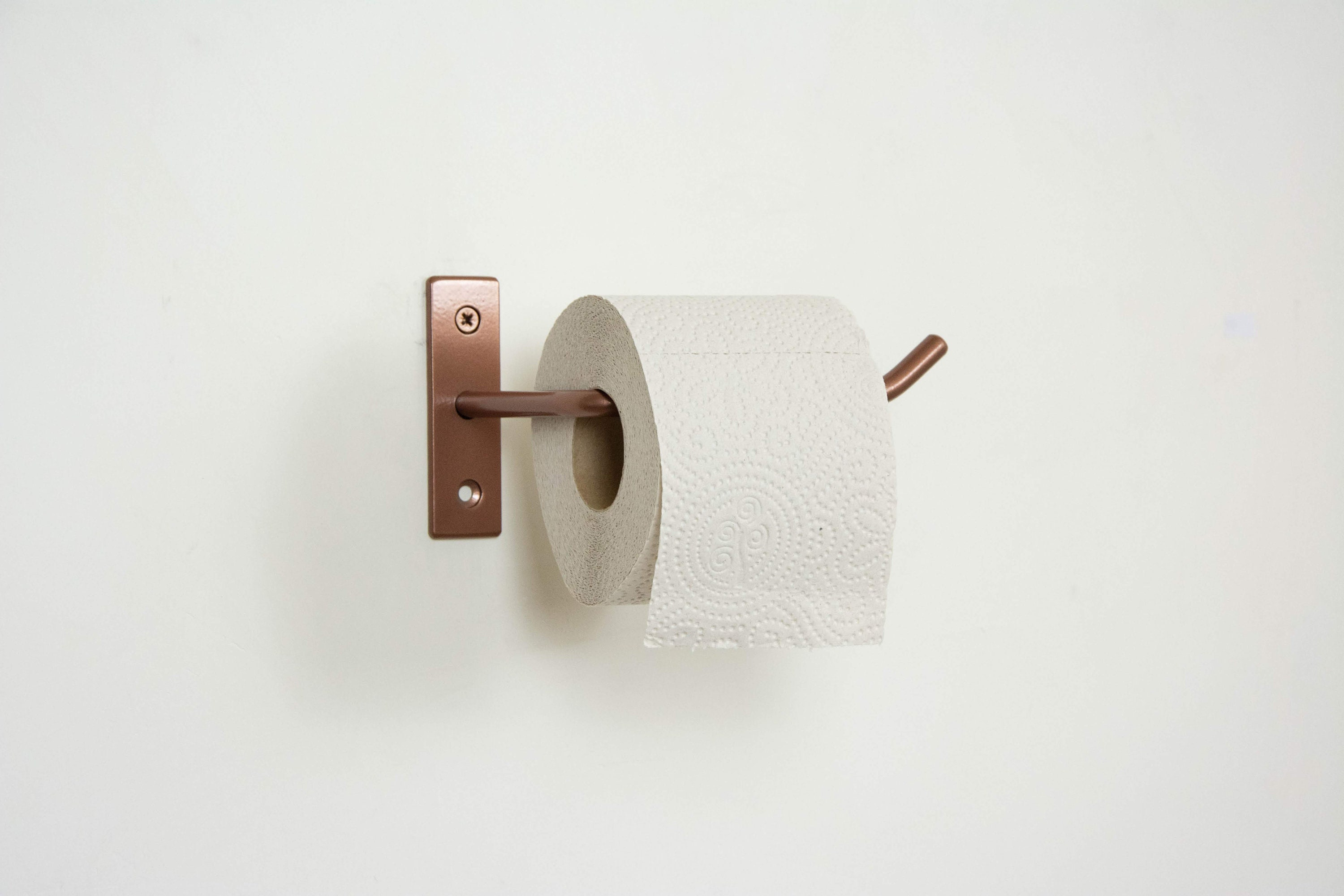 Steel Toilet Paper Holder Powder Coated Tissue Holder Bathroom Accessories Kitchen Towel Holder Paper Roll Holder Hardware Included