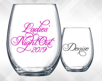 Ladies Night Out Decals   Girls Night Out, Weekend Trips, Family Reunions, Bachelorette Weekend, Customize to fit your event!