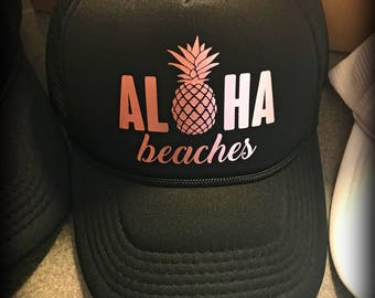 Aloha Beaches Hats with Pineapple for Bachelorette Parties  42eb08fd067d