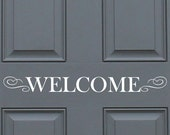 Items Similar To Welcome Sign Vinyl Wall Quote Decal