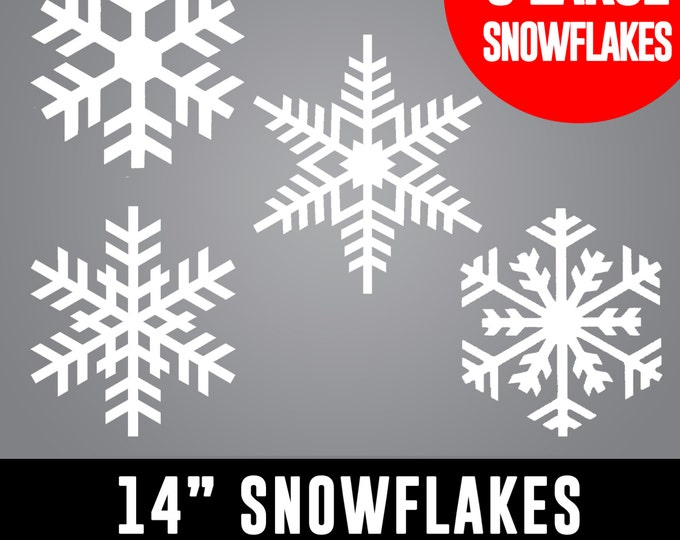 Featured listing image: 14 inch LARGE Snowflakes - Retail Shop Windows, House Windows, Christmas Decor, Winter Wonderland