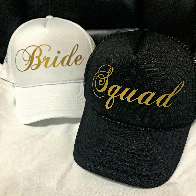 9e0b7441b Bride SQUAD Hats / FREE BRIDE Hat* / Bachelorette Party / Bridal ...