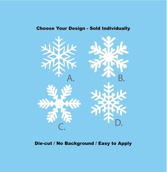 White Winter Snowflakes Vinyl Decal Set Small Set of 30