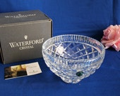 Waterford Crystal Killeen Footed Bowl Ireland 6 quot Round Cut Glass Bowl MIB