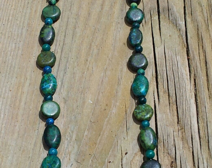 Green Austrailian Jasper Necklace, Jasper Necklace, Green Necklace, Gift for Her, Gemstone Necklace