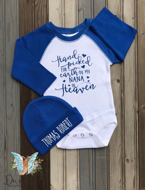 New baby Gift SAMPLE SALE- Hand picked for Earth by Heaven Bodysuit In Memory Gift Hand picked for Earth Shirt Personalized In Memory