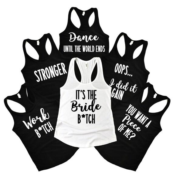 FEYONCE like Beyonce Bridal Tank Top Indigo Gold Engagement Shirt